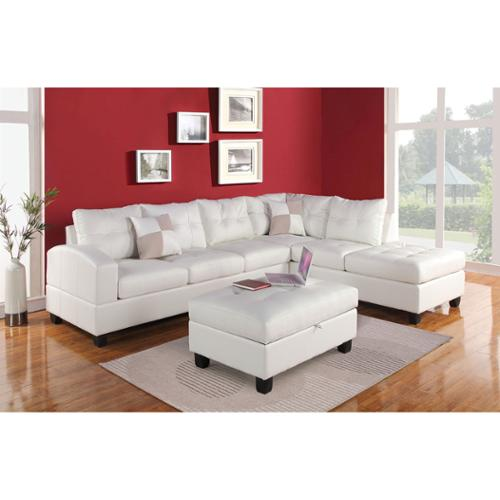Acme Kiva Bonded Leather Match Sectional Sofa by Overstock