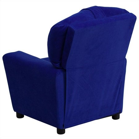 Bowery Hill Kids Recliner in Royal Blue with Cup Holder - image 1 de 5