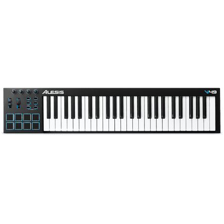 Alesis V49 | 49-Key USB MIDI Keyboard & Drum Pad (Best 88 Key Midi Keyboard)