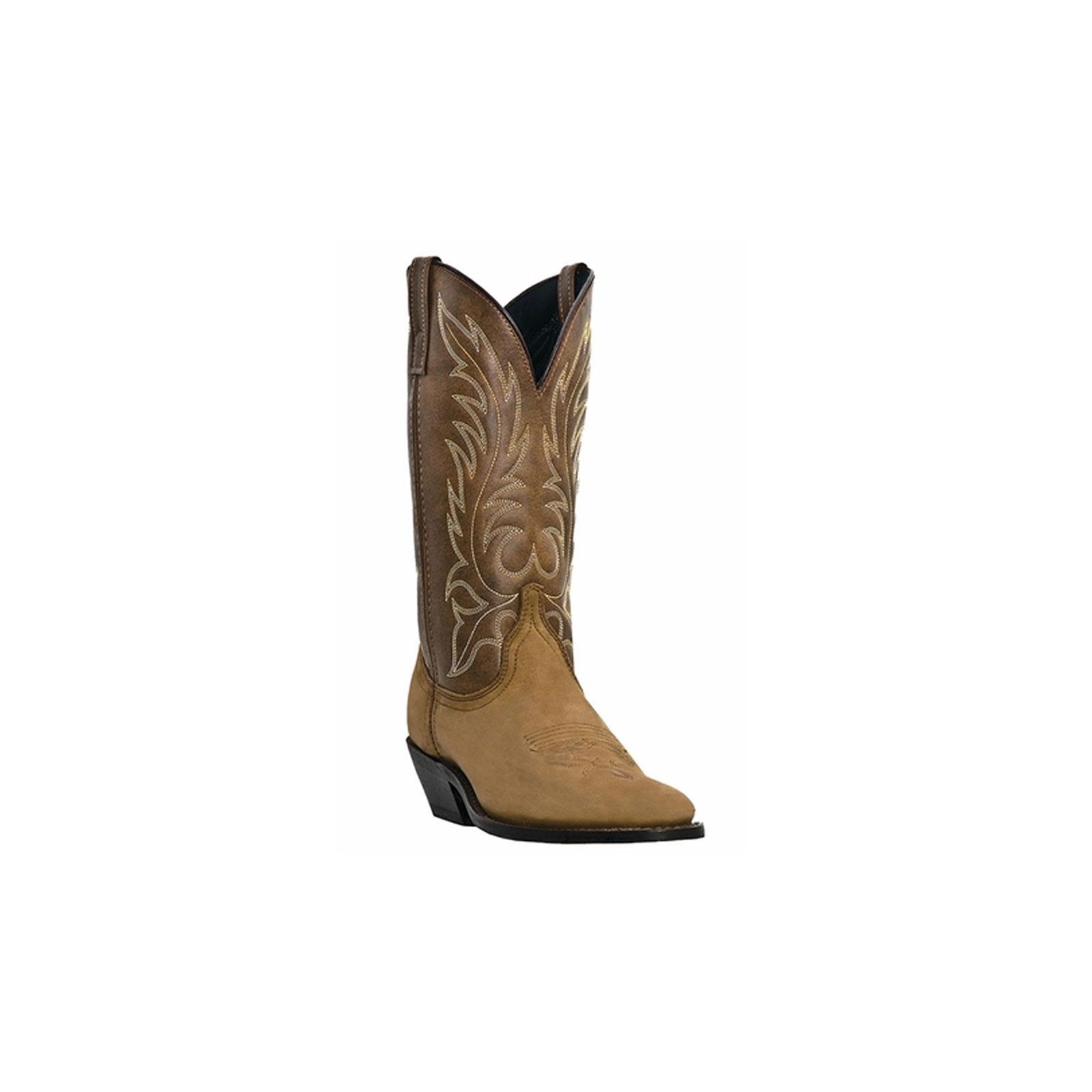Laredo Western Boots Womens Leather Kadi Cowboy Distressed Tan 5742 by Laredo