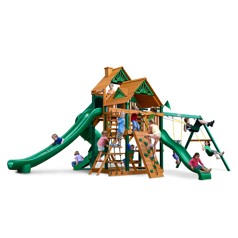Gorilla Playsets Great Skye II W  Timber Shield and Standard Roof Swing Set by Gorilla Playsets
