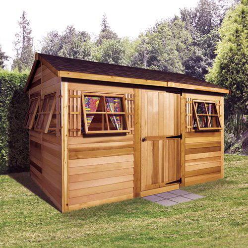 Garden Sheds 12 X 12 cedar shed 12 x 8 ft. beach house garden shed - walmart