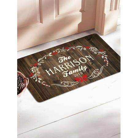 Personalized Rustic Christmas Doormat ()