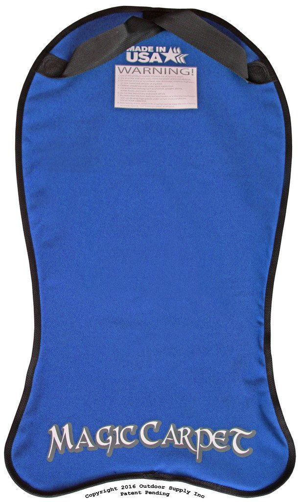 Bradley Kid's Magic Carpet Flexible Snow Sled Flyer Kids Sledding Toboggan Royal Blue by