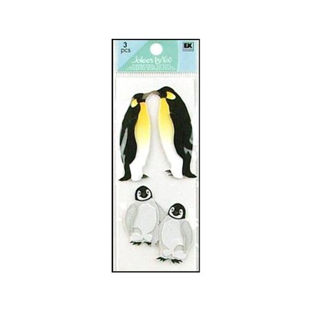Jolees By You Dimensional Stickers Slim  Penguins Multi Colored
