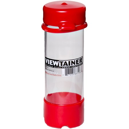 "Viewtainer Tethered Cap Storage Container 2""X6""-Red - image 1 of 1"