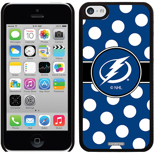 Tampa Lightning Polka Dots Design on iPhone 5c Thinshield Snap-On Case by Coveroo