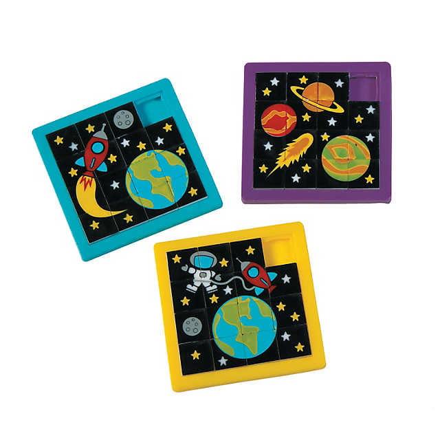 Space Slide Puzzles Party Favors, Set of 6