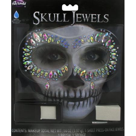 Halloween Costumes Skeleton Pirate (Womens Glam Skeleton Jewels Kit Halloween Costume)