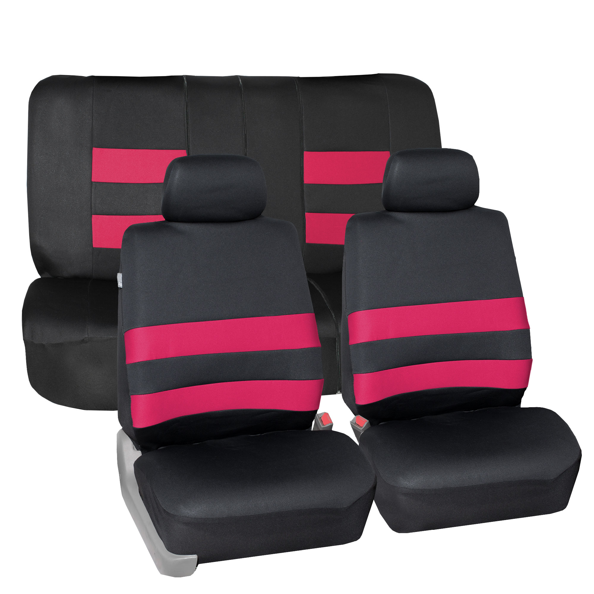 FH Group Premium Neoprene Seat covers, Airbag & split  Compatible, Full Seat Covers with 2 Headrest Covers, 9 Colors
