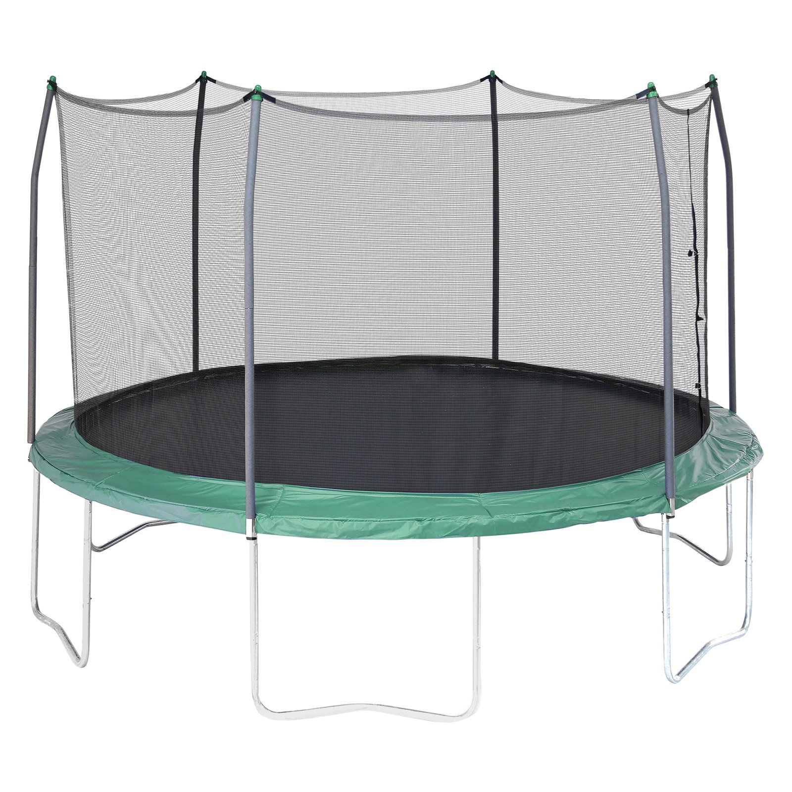 Skywalker Trampolines 12 Foot Trampoline With Safety Enclosure Green Com