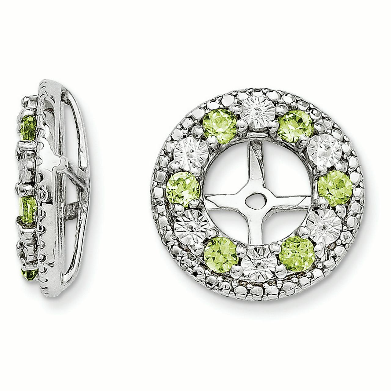 Sterling Silver Peridot Earring Jacket