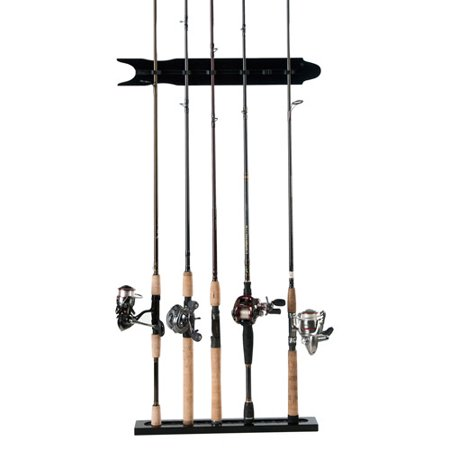 Organized fishing 20 9 8 rod modular wall rack black for Walmart fishing pole holder