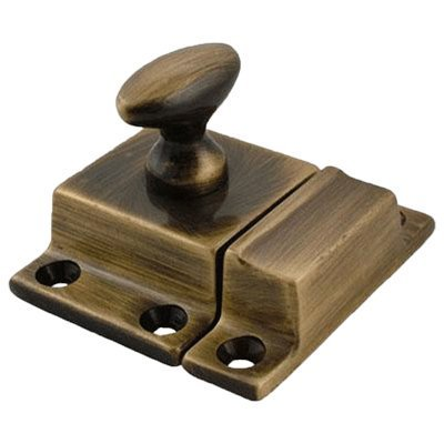 Antiqued Brass Cabinet Latch - Small - Antique Furniture Restoration Hardware - BI-32AB ()