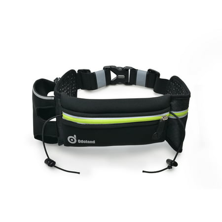 Odoland Sport Running Belt Extra Extension Belt W  One Water Bottle Holder   Large Pouch