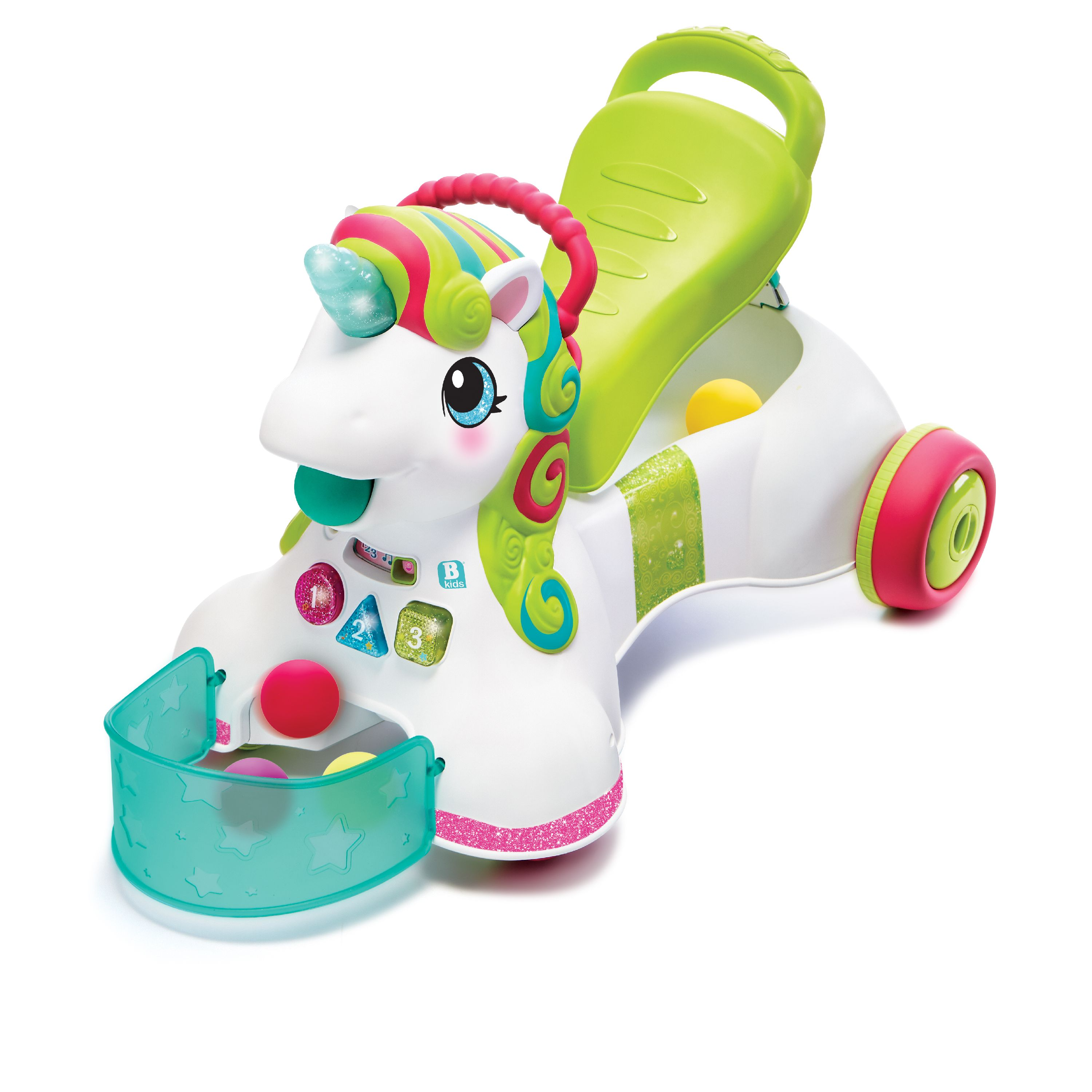 Smilin' Shimmer 3-in-1 Sit, Walk & Ride Unicorn