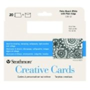 Strathmore 5 x 6.87 in. Acid-Free Full Size Creative Card With Envelope - Palm Beach White, Pack 20