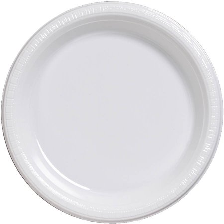 Black And White Plastic Plates (9