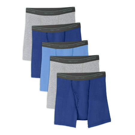 Fruit of the Loom Husky Boys' Assorted Cotton Boxer Briefs, 5 Pack (Little Boys & Big - Boys 2 Pack Cotton