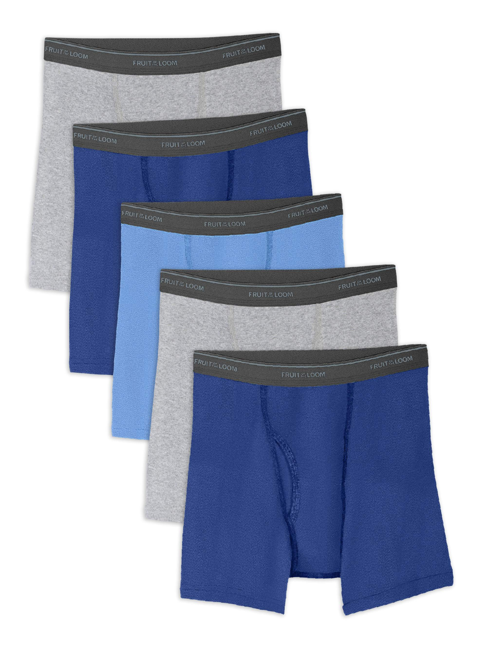 Husky Boys' Assorted Cotton Boxer Briefs, 5 Pack (Big Boys)