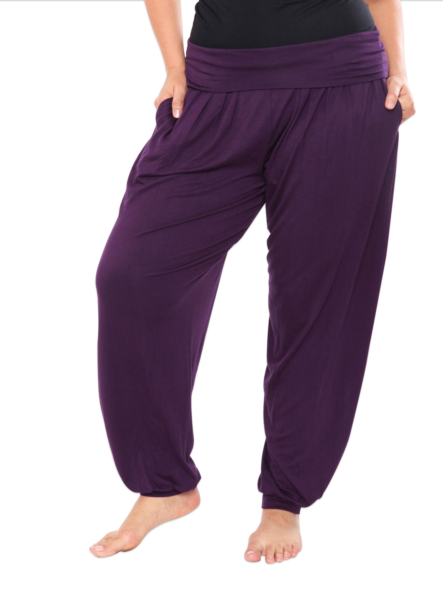 Plus Size Purple Harem Pants