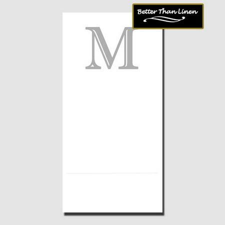 Partypro TQP-701 M Better Than Linen Monogram Guest Towel