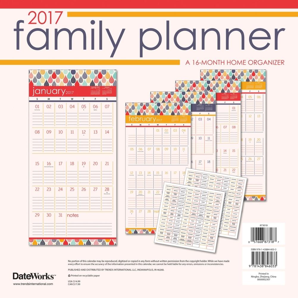 family planner wall calendar walmart com