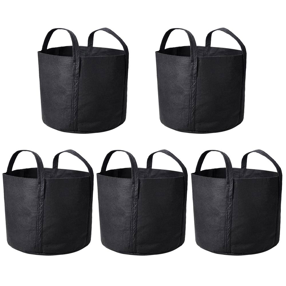 Planters Supplies Round Fabric Pots Grow Bag Root Container Plant Pouch
