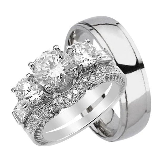 Laraso Co Wedding Rings His Hers Sets Matching For Him Her