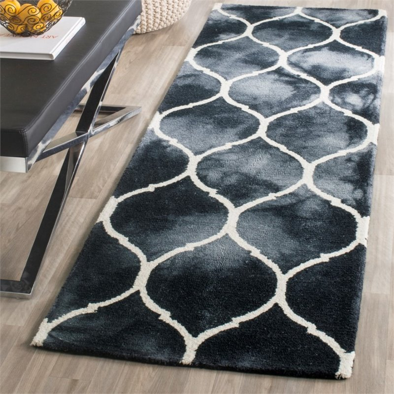 Safavieh Dip Dye 8' X 10' Hand Tufted Rug in Graphite and Ivory - image 5 of 10