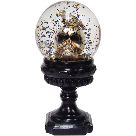 skull snowglobe halloween decoration