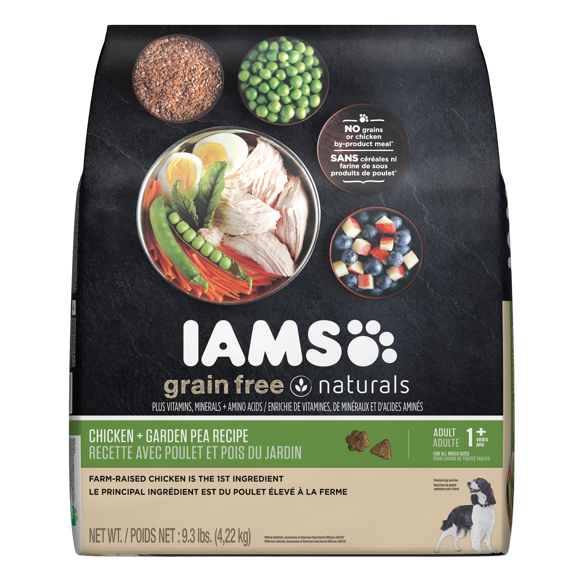 IAMS GRAIN FREE NATURALS Adult Dog Chicken and Garden Pea Recipe Dry Dog Food 9.3 Pounds