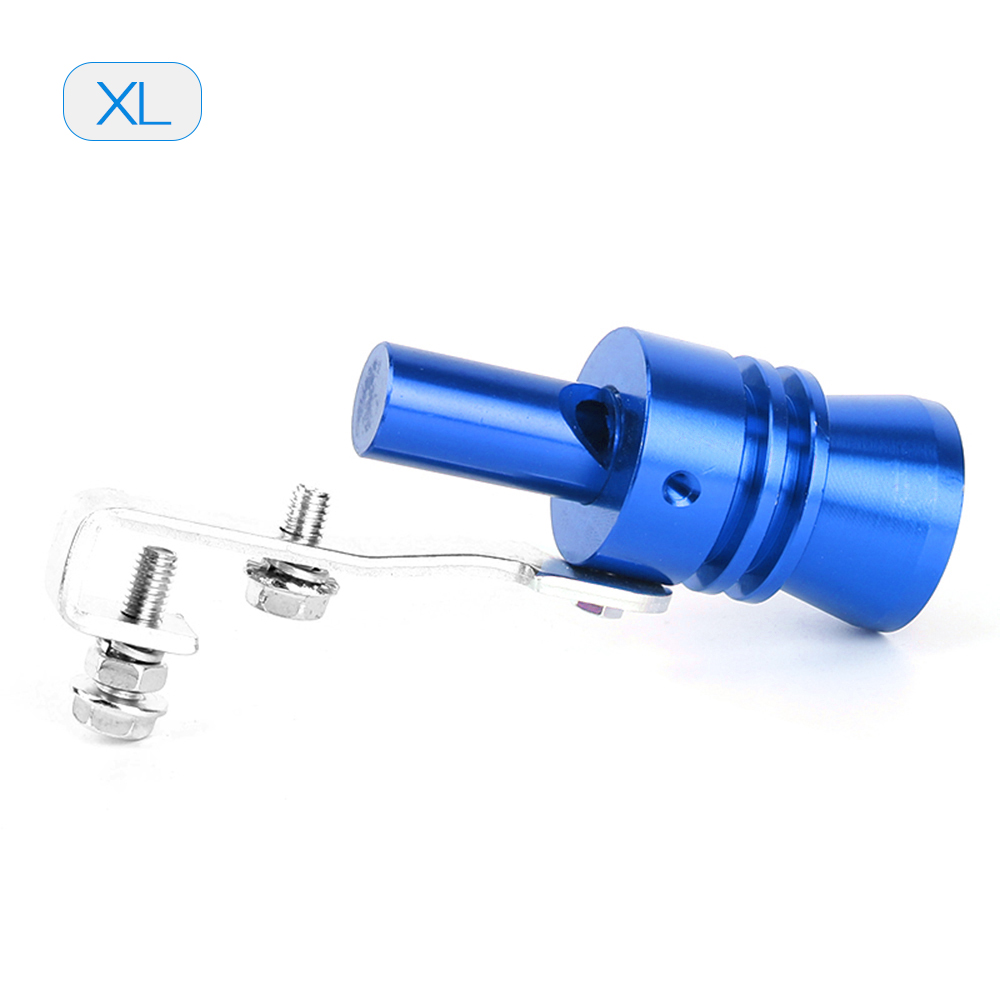 ECCPP Black Universal Aluminum Exhaust pipe XL Car Turbo Sound Whistle Simulator Blow off valve BOV Tip