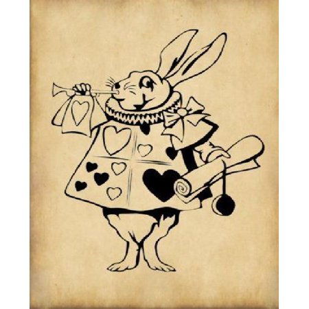 Alice in Wonderland Journal - White Rabbit with Trumpet: 100 Page 6 X 9 Ruled Notebook: Inspirational Journal, Blank Notebook, Blank Journal, Lined No