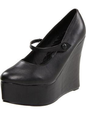 4b01bbf12fff Product Image 4.5 inch black mary jane wedge shoes gothic shoes