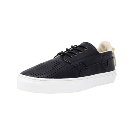 Coated Canvas Black Leather (Clear Weather Eighty Black Ankle-High Leather Fashion Sneaker - 11M /)
