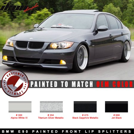 05-08 BMW E90 3-Series OE Style Front Lip Splitter 2PC Painted OE Color - Make Front Splitter