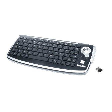 Inland 70142 2.4GHz Wireless Keyboard with Trackball, Black