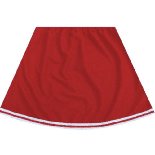 Red Cheerleader Skirt With White Trim Cheer Costume Cute Sexy Adult Womens