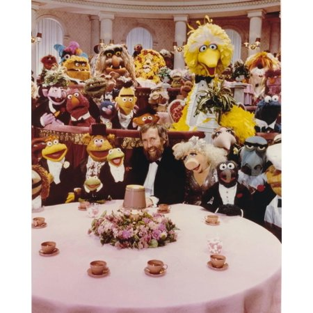 Jim Henson Dining with Sesame Street Cast Print Wall Art By Movie Star (Star Cast Of Wolf Of Wall Street)