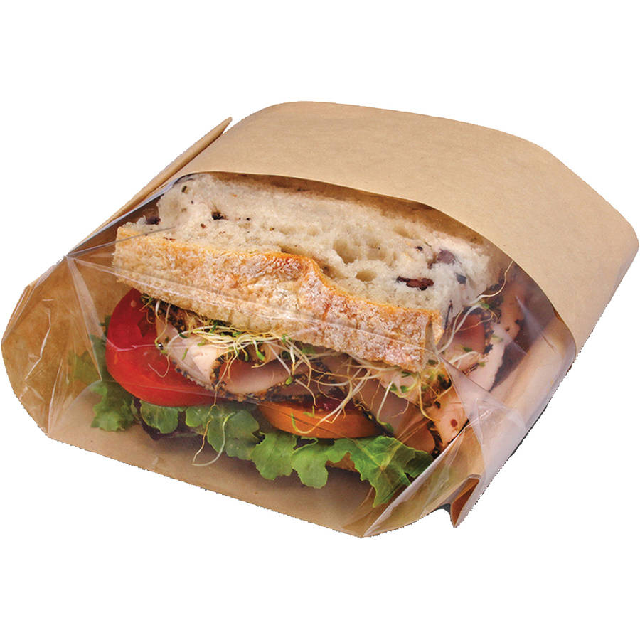 Bagcraft Dubl View Natural Brown Sandwich Bags, 500 count