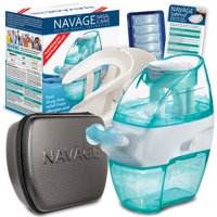 Navage Nasal Irrigation The Works Bundle: Navage Nose Cleaner, 38 SaltPod Capsules, Countertop Caddy, and Black Travel Case. 139.85 if purchased separately. You save 29.90 (21%)