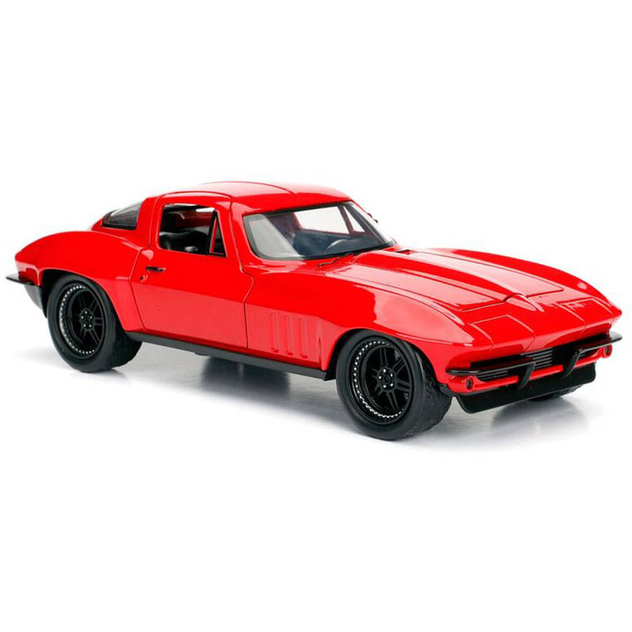 Jada Toys Fast & Furious 1:24 Scale Die Cast 1966 Chevy Corvette in Red