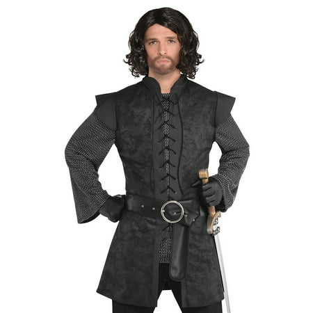 Warrior Tunic Adult Costume Black - Standard (Halloween Costumes $20 And Under)