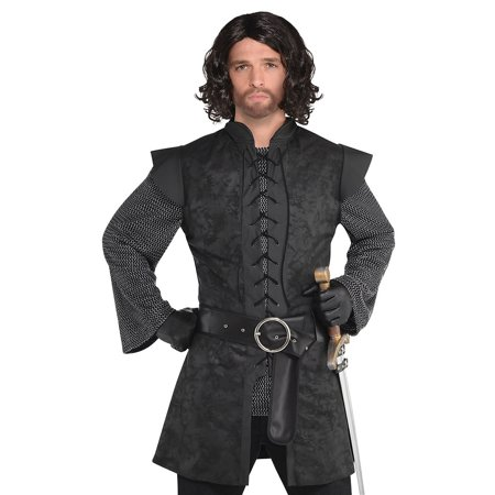 Warrior Tunic Adult Costume Black - Standard](Black Light Costumes)