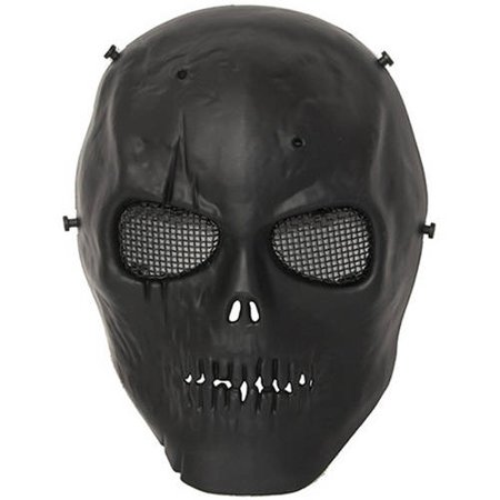 ALEKO PBM221BK Skull Skeleton Airsoft Mask with Wire Mesh Goggles, - Skull Maks