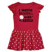 I Watch Baseball with My Abuelo Infant Dress