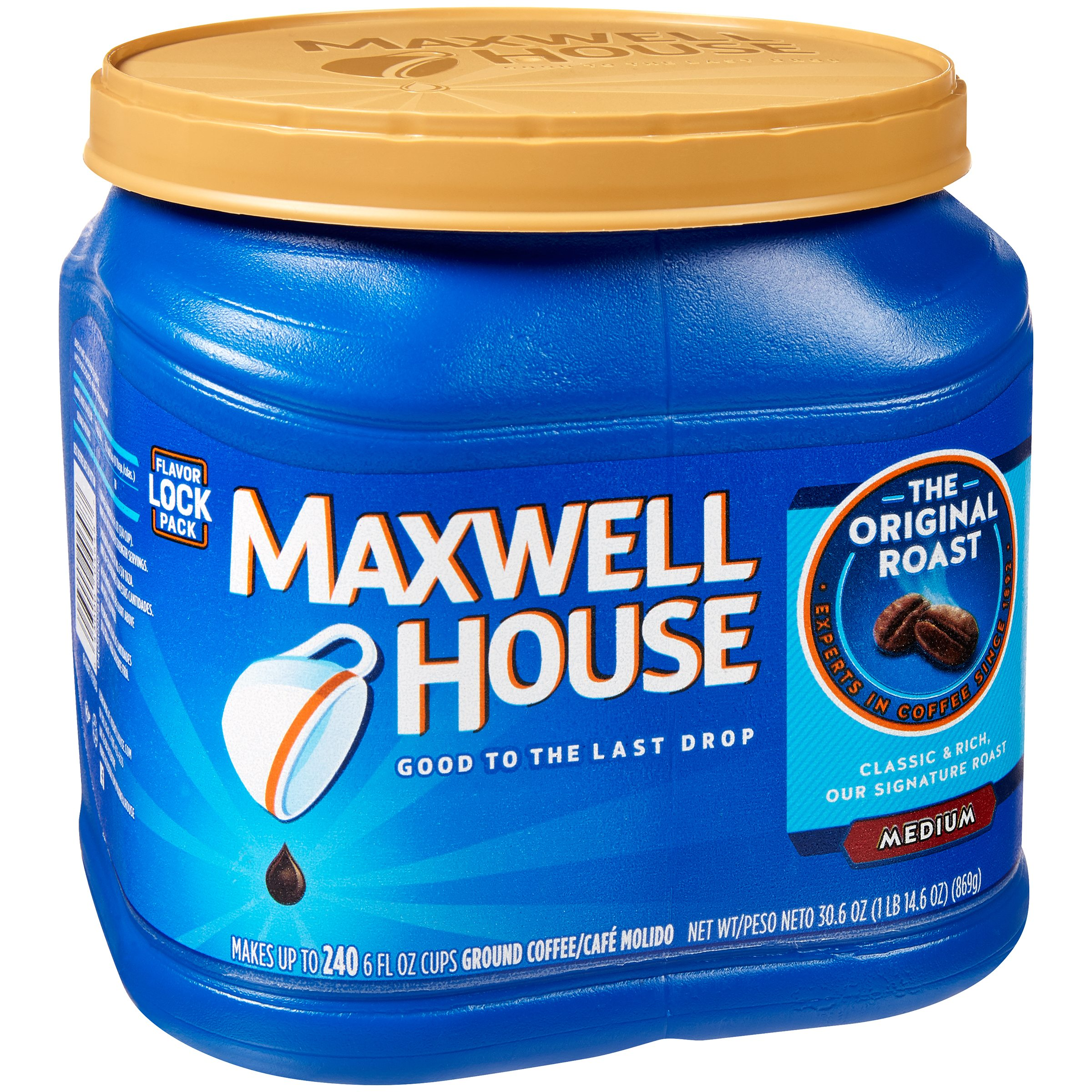 Maxwell House Original Roast Ground Coffee 30.6 oz. Tub