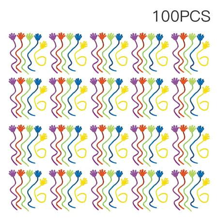 Sticky Hands Toy (100PCS Sticky Flash Hand Style Squishy Funny)