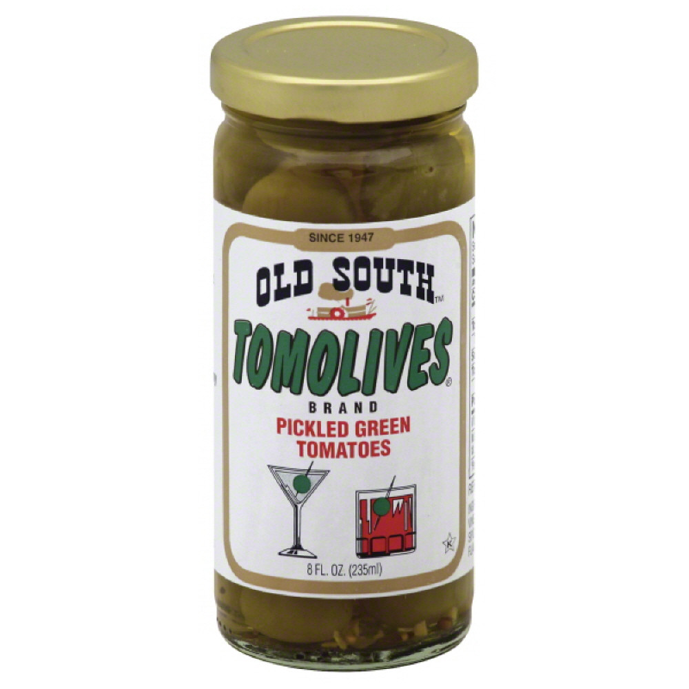 OLD SOUTH TOMOLIVES PICKLED GREEN TOMATO, 8 OZ (Pack of 12 ...
